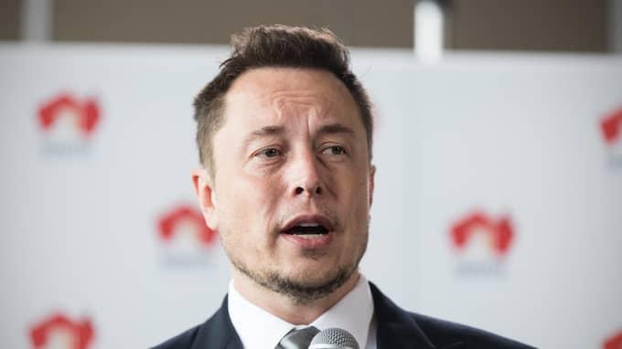 Elon Musk. Foto: BEN MACMAHON / EPA / TT