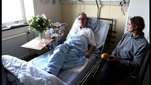 Ralf Edström talar från sjukhussängen