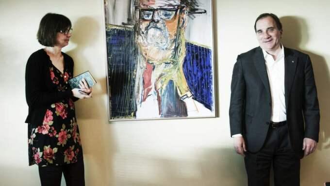 På samma sida. Gunilla Brodrej försöker få fatt på Stefan Löfvens kultursyn - och hittar en partiledare som gråter på musikal och läser Leon Uris. Foto: Olle Sporrong