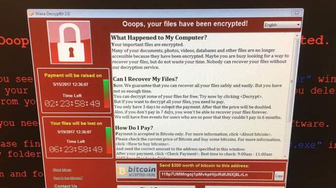 Minst 99 länder - däribland Sverige - har drabbats i den senaste stora cyberattacken. Foto: Ap / AP TT NYHETSBYRÅN