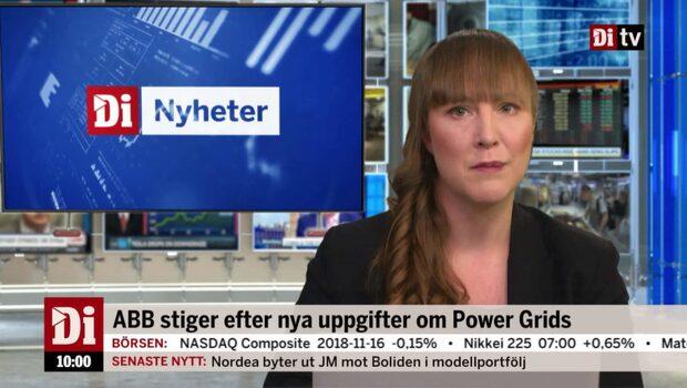Di Nyheter 10.00 19 november - ABB upp på uppgifter om Power Grids-köp