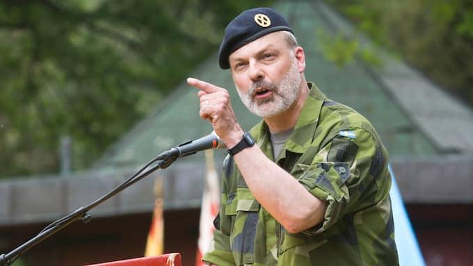 Generalmajor Anders Brännström försvarar sina uttalanden. Foto: ERIK ÅHMAN / KVP