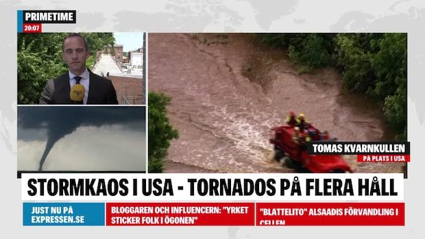 21 tromber orsakar kaos runtom i USA