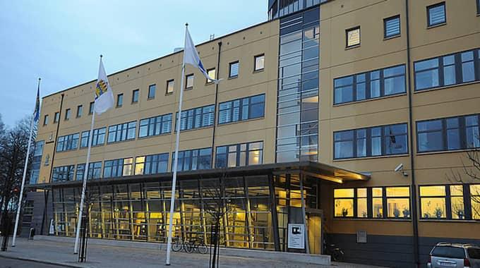 Kammaråklagare Emma Berge håller i dag presskonferens på polishuset i Växjö med anledning av åtalet. Foto: Carl Carlert