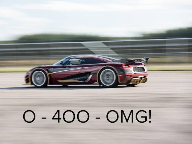 Bilden som Koenigsegg laddade upp på Facebook.