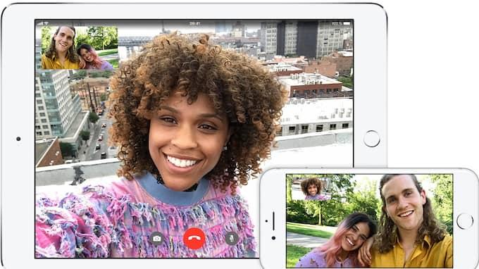 Facetime är skapat för videosamtal. Foto: Apple