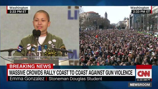 Hör eleven Emma Gonzalez starka tal till sina ihjälskjutna skolkamrater