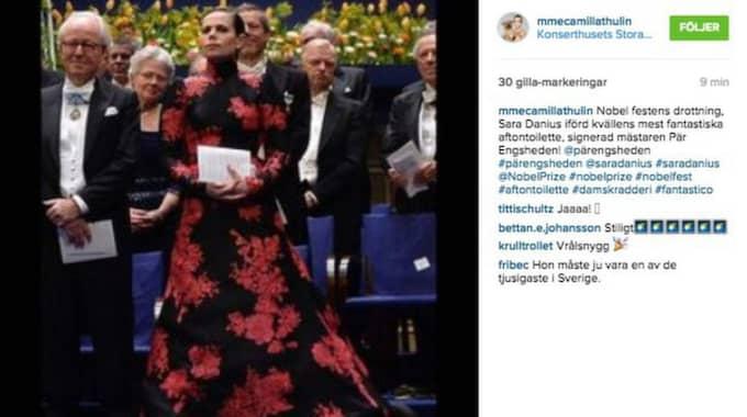 Camilla Thulins hyllning till Sara Danius på Instagram.