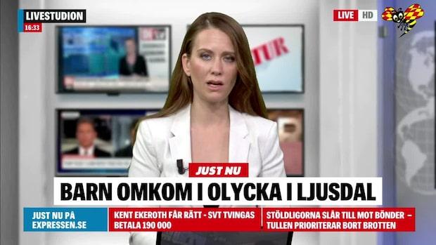 Barn omkom efter olycka i Ljusdal
