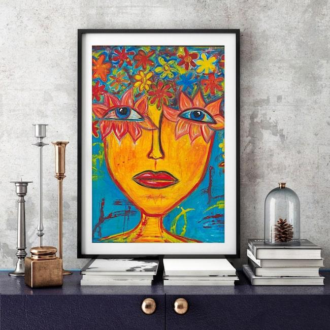 """<span>Somrig! Nya tavlan """"Midsummer"""" av Susanne Åkeson Rosencrantz finns att köpa i två storlekar. Klicka på plustecknet i bilden för att handla i LEVA&BO:s webbutik.</span>"""