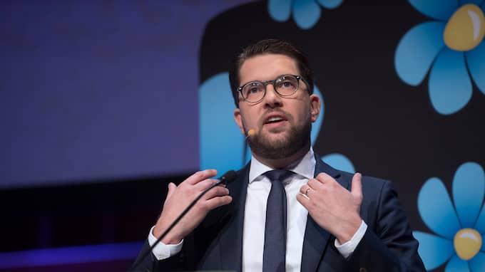 Sverigedemokraternas partiledare Jimmie Åkesson utsattes för ett bisarrt namnbyte. Foto: SVEN LINDWALL