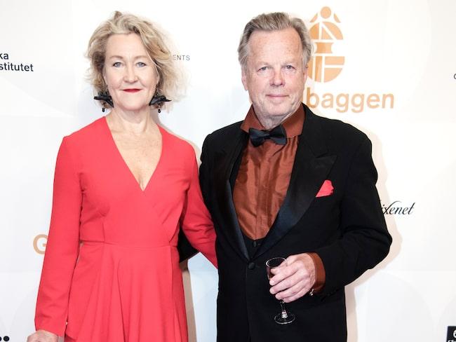 Krister Henriksson tillsammans med hustrun Cecilia Nilsson.