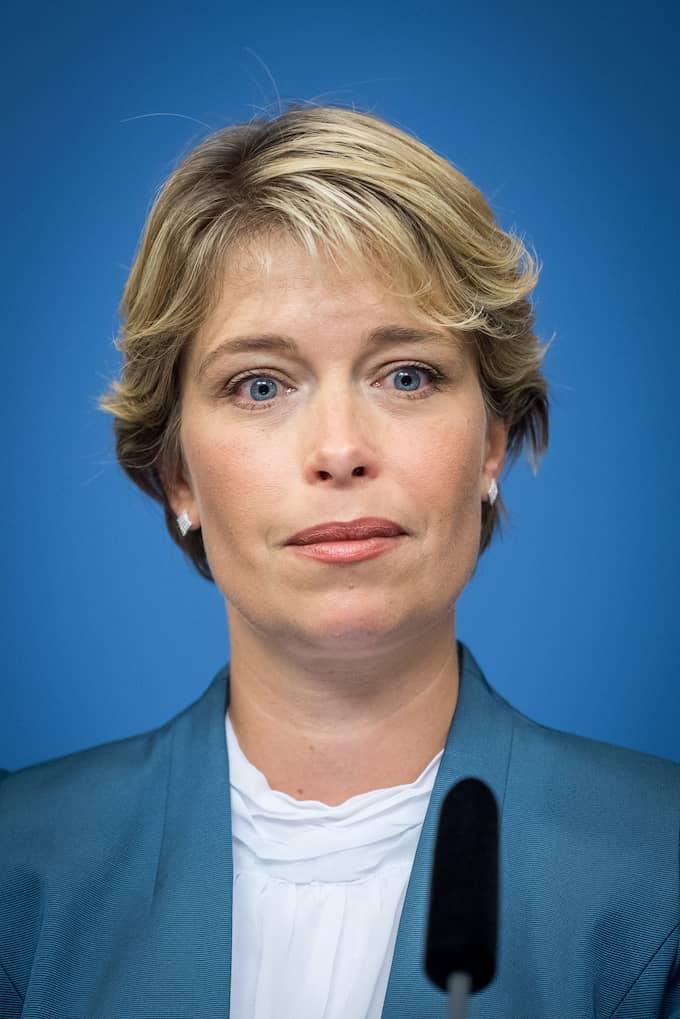 Annika Strandhäll, ordförande i pensionsgruppen. Foto: (C) PELLE T NILSSON / (C) PELLE T NILSSON/STELLA PICTU STELLA PICTURES