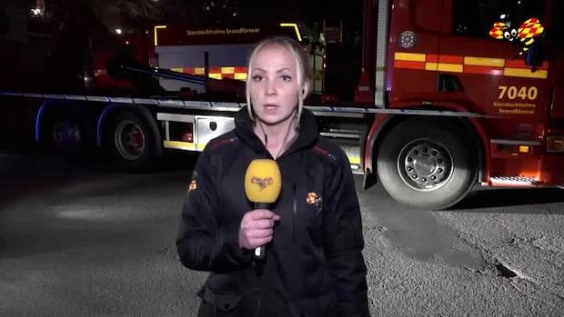 """Stort pådrag efter brand: """"Ett vittne ska ha hört en smäll"""""""