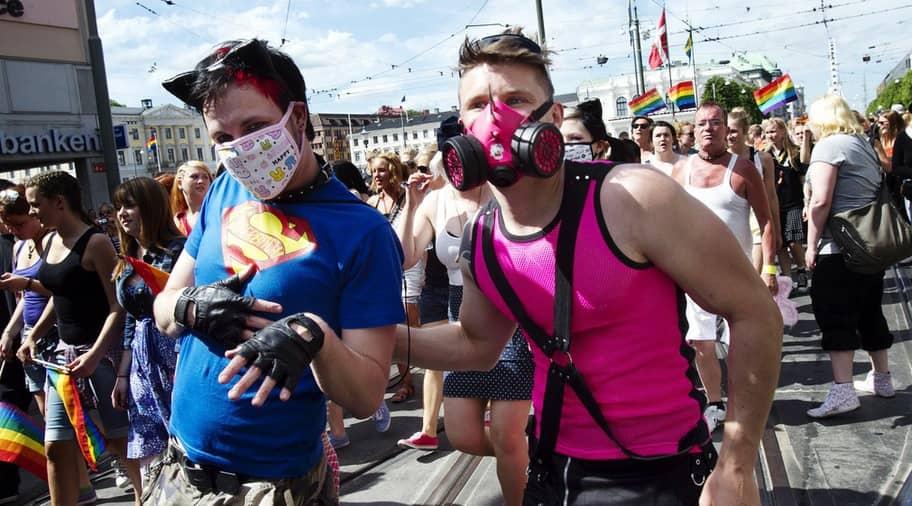 Paraden slutade i kaos