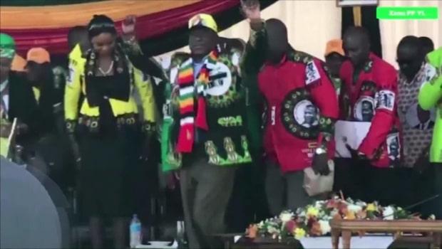 Dramatisk video visar mordförsöket på presidenten