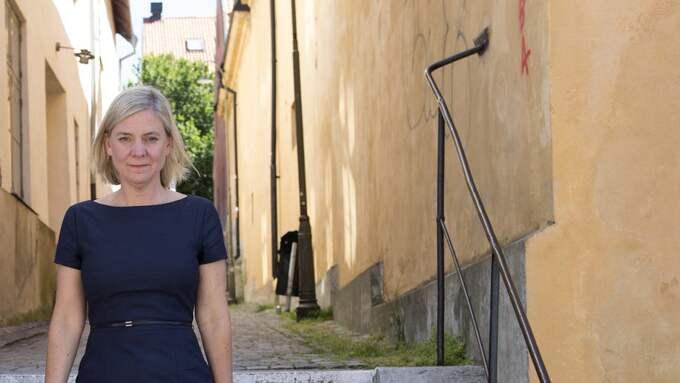Finansminister Magdalena Andersson (S) på plats i Almedalen. Foto: HENRIK MONTGOMERY/TT / TT NYHETSBYRÅN