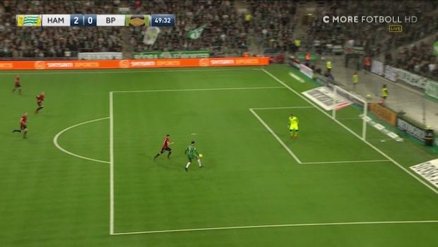 Khalili sätter matchens andra mål på volley