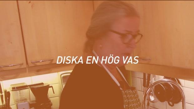 Karins husmorsskola - Diska en hög vas