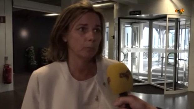 Isabella Lövin inför utfrågningen i SVT