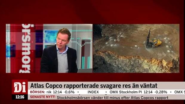 """Di:s analytiker: """"Sämsta börsdagen sedan sommaren 2018 för Atlas Copco."""""""