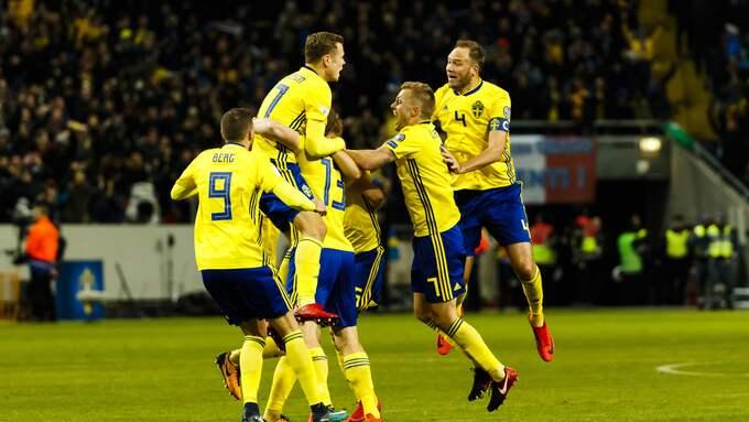 ...precis som det svenska landslaget fick se sig besegrad. Foto: DANIEL MALMBERG