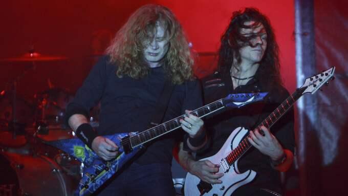 Megadeth kommer till Malmö. På bild Dave Mustaine och tidigare medlemmen Chris Broderick. Foto: JUAN KARITA / AP