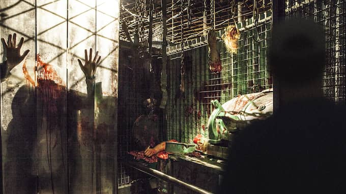 Massor av skräck på Liseberg i höst – attraktionen The Experiment handlar om en forskare som ständigt är ute efter nytt blod. Foto: Liseberg