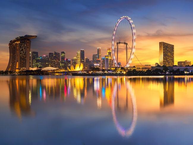 Singapores imponerande skyline beskådas förstås allra bäst uppifrån.