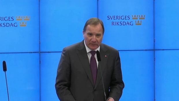 """Stefan Löfven: """"Nu har processen gått i stå"""""""