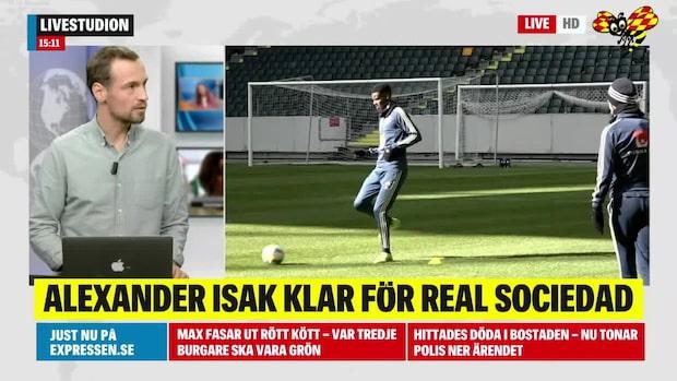 Alexander Isak klar för spanska Real Sociedad