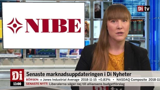 Di Nyheter 13.00 16 november - Nibe stiger på rapport