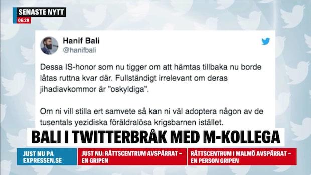 Hanif Bali i nytt ordkrig på Twitter