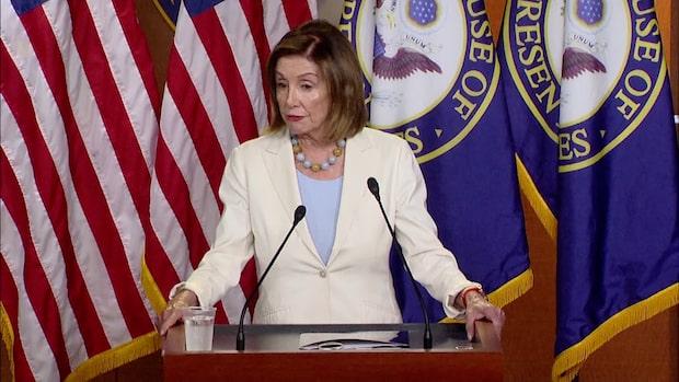Nancy Pelosi om att ställa Trump inför riksrätt
