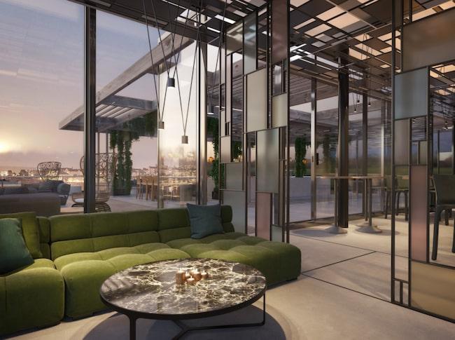 Restaurangen Tak har har 430 sittplatser i två etage plus en stor takterrass.
