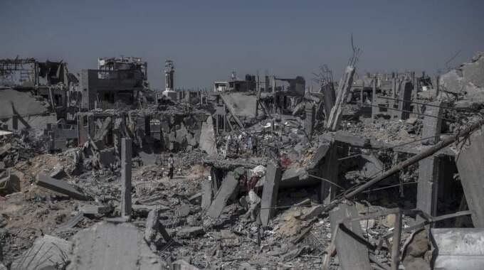 Förstört bostadsområde i Gaza. Foto: Christoffer Hjalmarsson
