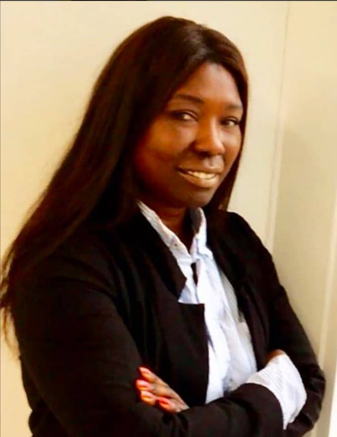 Partiledaren Victoria Kawesa (FI). Foto: Privat