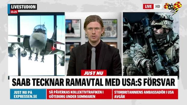 Saab tar avtal värt 4,2 miljarder med USA:s försvarsmakt