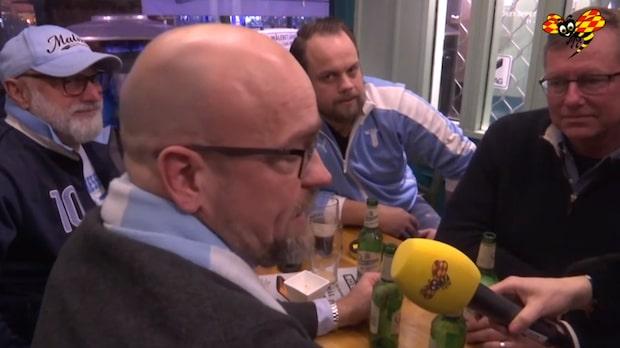 """Här bjuder fansen på sång: """"Forza Malmö!"""""""