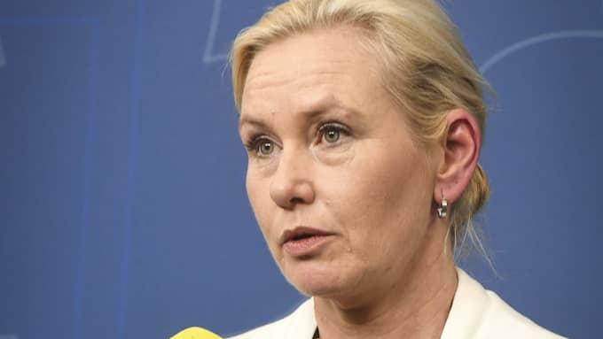 Anna Johansson, infrastrukturminister, kommer att närvara under statsbesöket. Foto: FREDRIK SANDBERG/TT