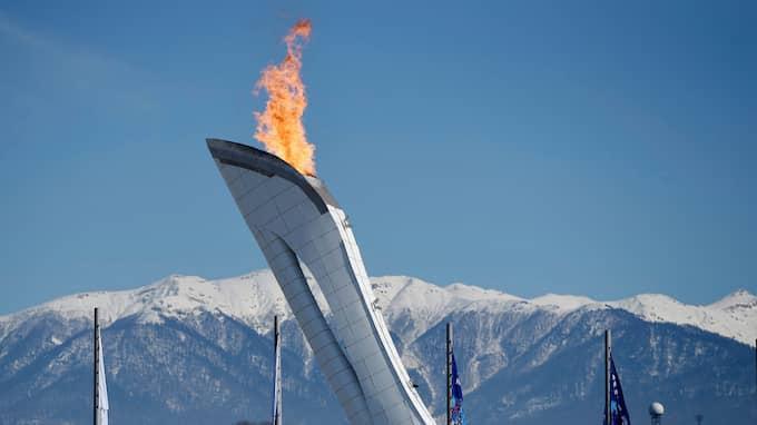 Olympiska elden vid OS i Sochi 2014. Foto: MATTHIASHANGST / WITTERS BILDBYRÅN