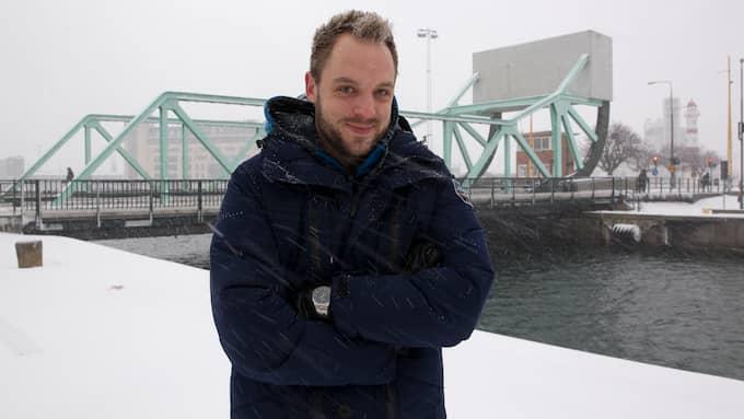 Robin Paulsson hoppas att det kommer snö till jul. Foto: ULF RYD / KVP/EXPR