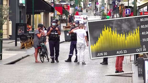 Så sprider sig smittan i världen – Frankrike inför utegångsförbud
