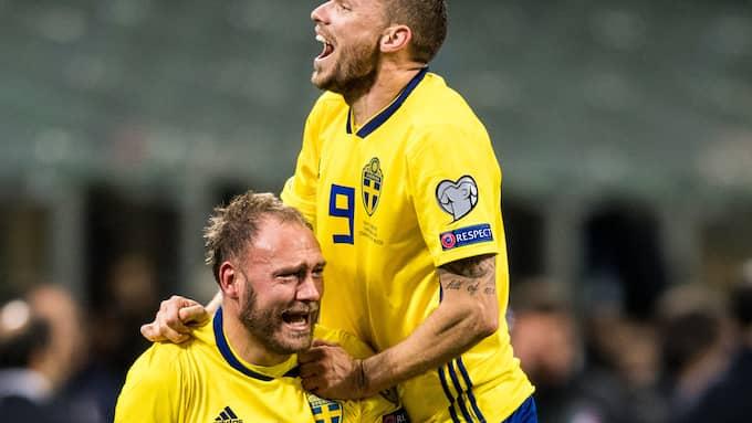 Andreas Granqvist och resten av landslaget är klara för VM. Foto: PETTER ARVIDSON / BILDBYRÅN