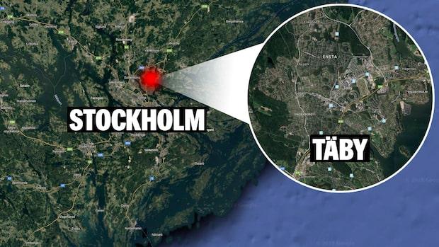 Hotfull man på skola i Täby – polisen har säkrat platsen