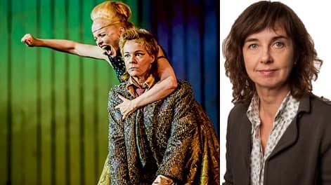 """Kerstin Avemo och Malena Ernman i """"Xerxes"""" på Artipelag."""