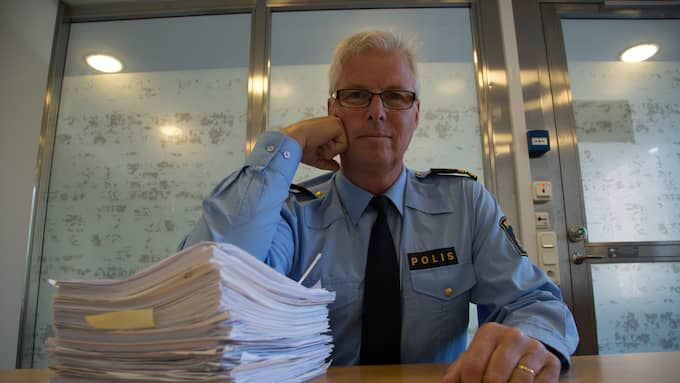 Håkan Carlsson, chef över polisens Circagrupp som utreder brott mot äldre, vädjar till pensionärernas grannar om hjälp. Foto: TORBJÖRN SELANDER