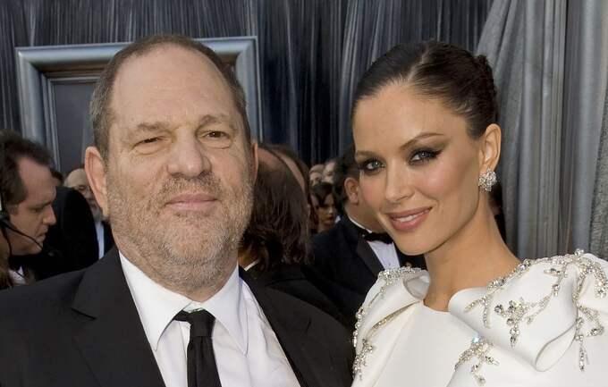 Weinstein med sin före detta fru Georgina Chapman. Foto: NEWSPIX / IBL BILDBYRÅ / IBL BILDBYRÅ NEWSPIX / IBLAB