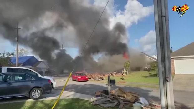 Flygplanet kraschade mitt i ett bostadsområde