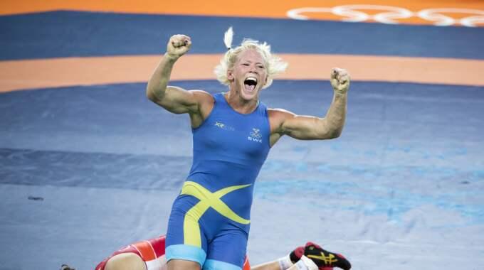 Jenny Fransson är skadad och missar brottnings-EM. Foto: Sven Lindwall